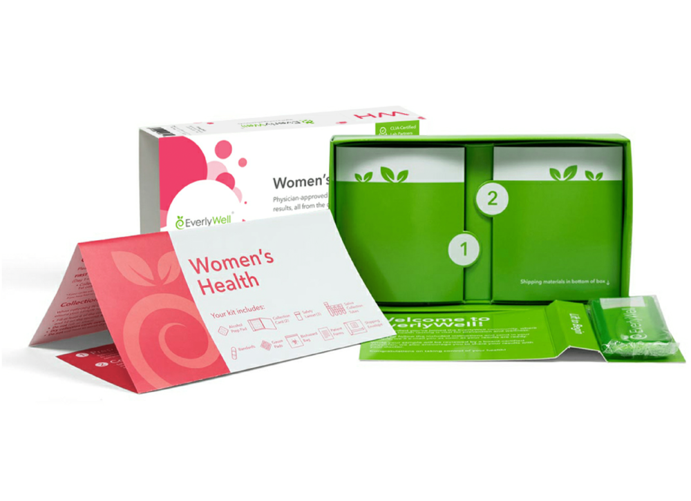 EverlyWell's women's health testing kit.