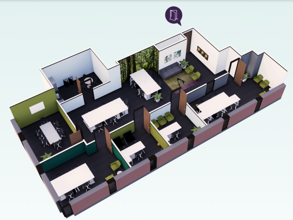 Sample of Swivel office space from their  property directory.