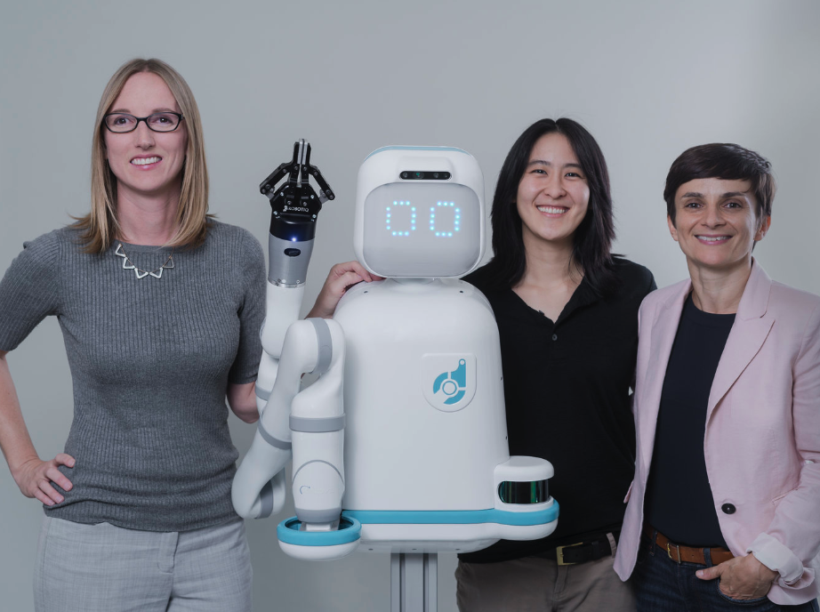 Diligent Robotics Co-Founders (from left) Andrea Thomaz, Vivian Chu and Head of Product Agata Rozga.