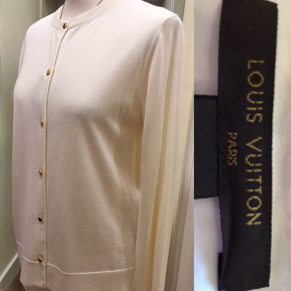 Louis Vuitton cream cashmere silk mix cardigan £99.jpg