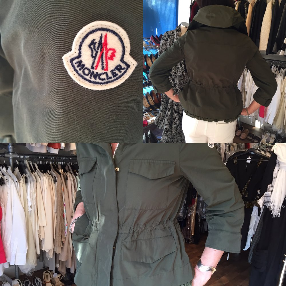 Moncler khaki jacket with bracelet sleeves £199.jpg