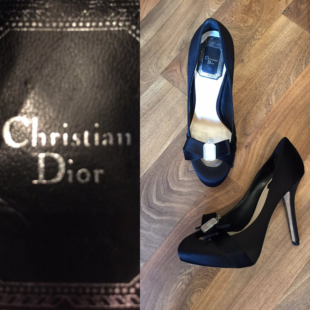 Christian Dior black satin high heeled shoes £149.jpg