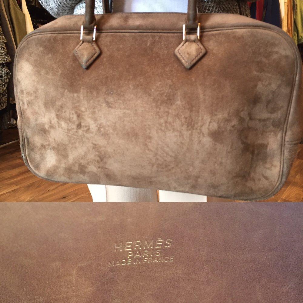 Hermes suede vintage £199.JPG