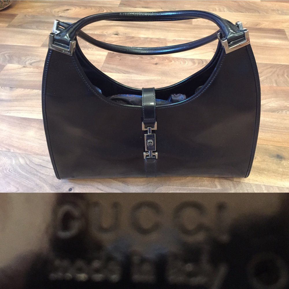 Gucci Black Leather Bag £120.jpg