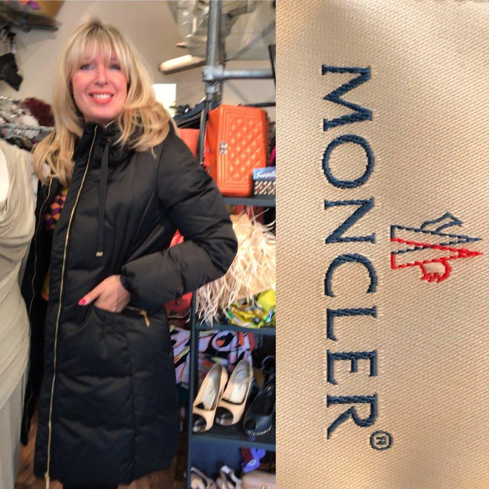 Moncler black puffa coat size 12 £299.JPG