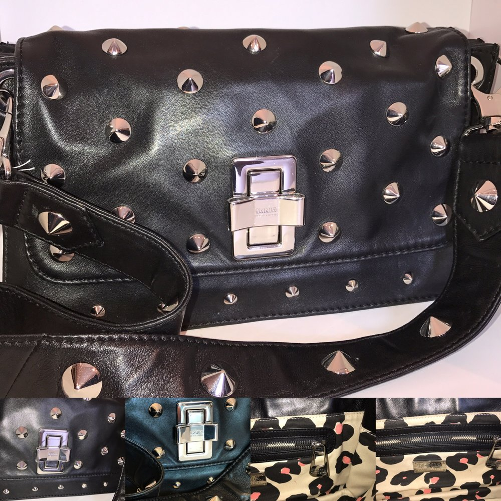Sonia Rykiel black leather studded bag £199.JPG