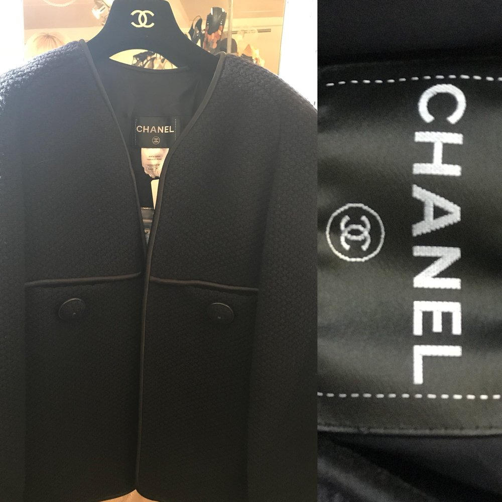 Chanel jacket in Navy size 44 £499.JPG