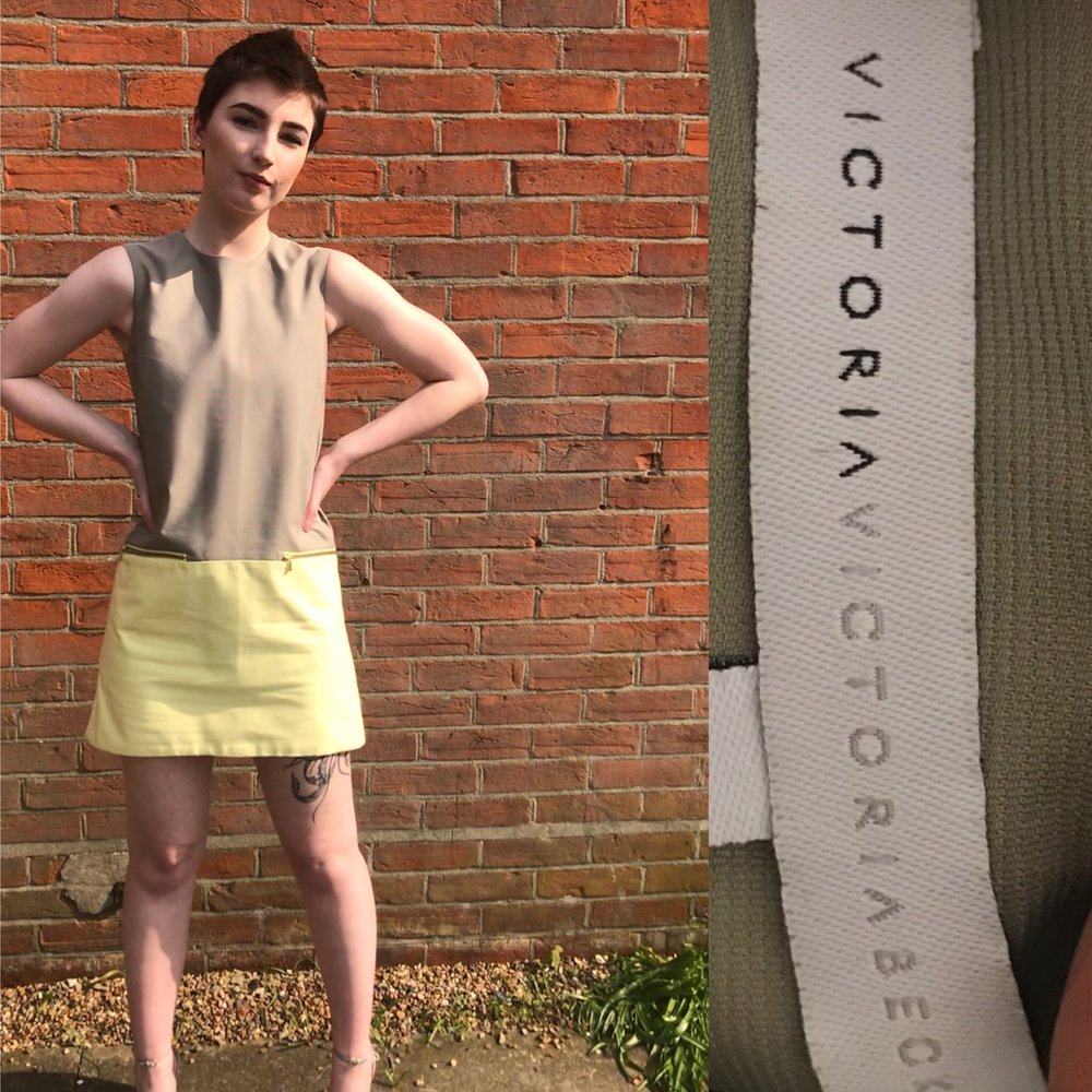 Victoria Beckham dress size 10-12 £299.JPG