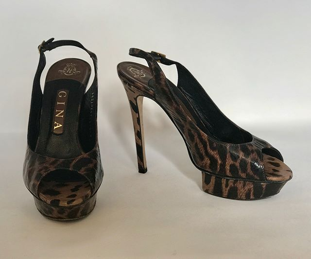 Gina leopard print patent heels. Super sexy - don't miss out!! Size 5, £149  @ginashoesofficial @fusspottsoxted #designer #fashion #style #fusspotts #nearlynew #preloved #forsale #heels #leopardprint #boutique #shoeporn #shoegasm #shoesaddict #meow #leopardprintshoes #leopardprintlover #leopardprinteverything #dontmissout
