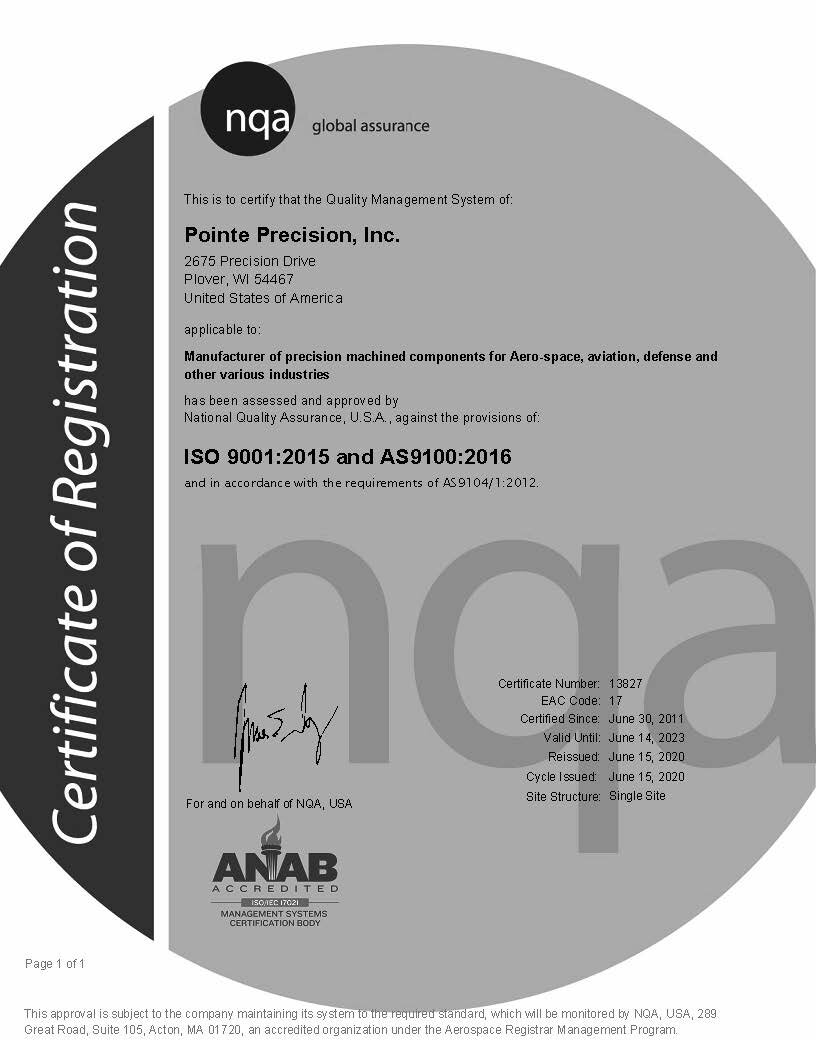ISO 9001:2008 and AS9100D