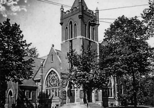 On the same corner where the first church stood, a second building was erected in 1904. This was home for the congregation until 1960.