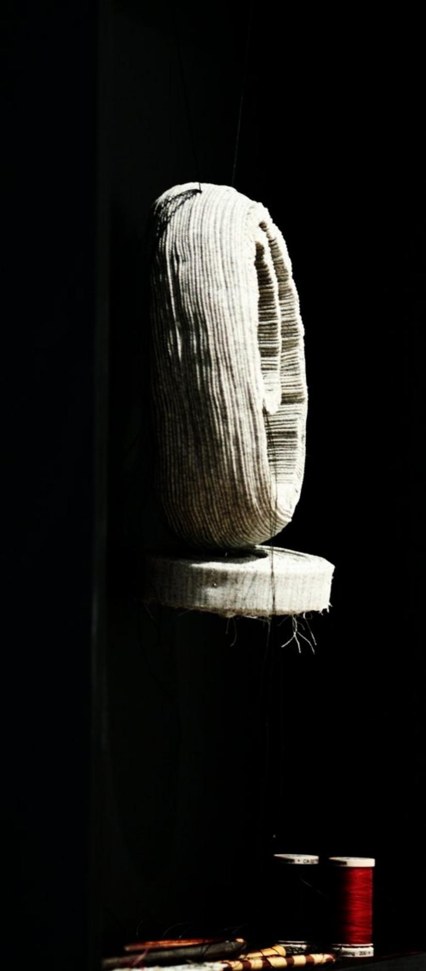 Dens of Solitude from Scribe & Stitch Series -Solo Exhibition July ,2018  ...The Night In All The Pale Windows  Was Incessantly Raging And Rebelling  Like A Suspicious Fancy,  And The Roads  Abandoned Their Ends In The Dark.  None Thought Of Love Any More  None Thought Of Glory Any More  And None  Thought Of Nothing Any More.  In The Dens Of Solitude  Vanity Was Born,  -------  شب در تمام پنجره های پریده رنگ  مانند یک تصور مشکوک پیوسته در تراکم و طغیان بود  و راهها ادامهء خود را در تیرگی رها کردند  دیگر کسی به عشق نیندیشید  دیگر کسی به فتح نیندیشید  و هیچکس  دیگر به هیچ چیز نیندیشید  در غارهای تنهائی  بیهودگی به دنیا آمد  (آیه های زمینی - فروغ فرخزاد)