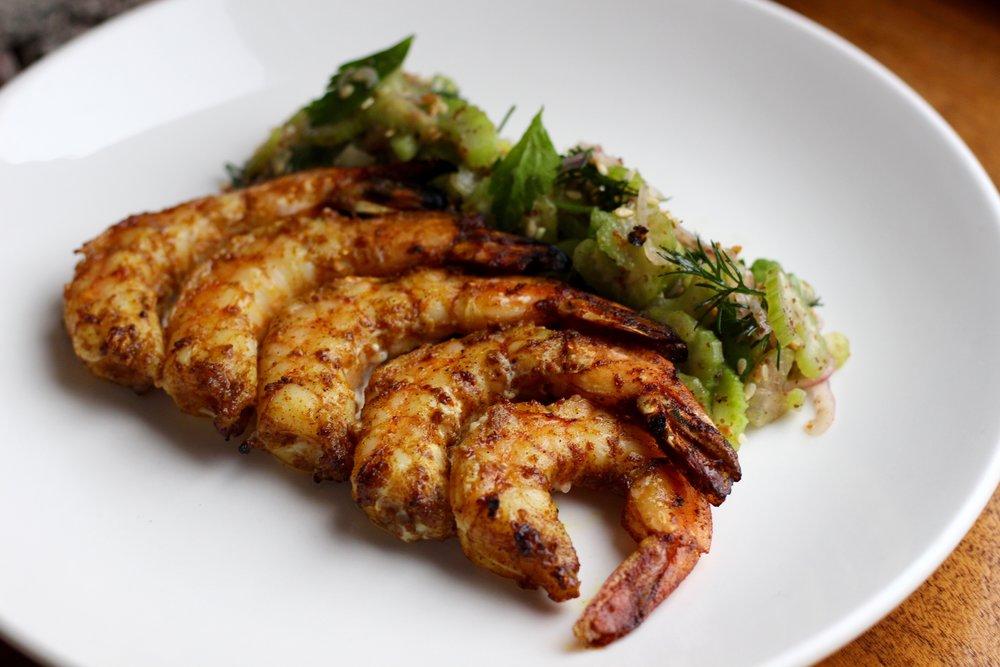 Moroccan Spiced Grilled Shrimp