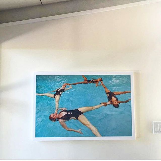 We swam for the lovely @angelalandrews gorgeous James Bond themed wedding in Palm Springs.  She had one of the moments enlarged and framed, how cool! #weddings #fun #love #synchro #water #beauty #art #007 #yes