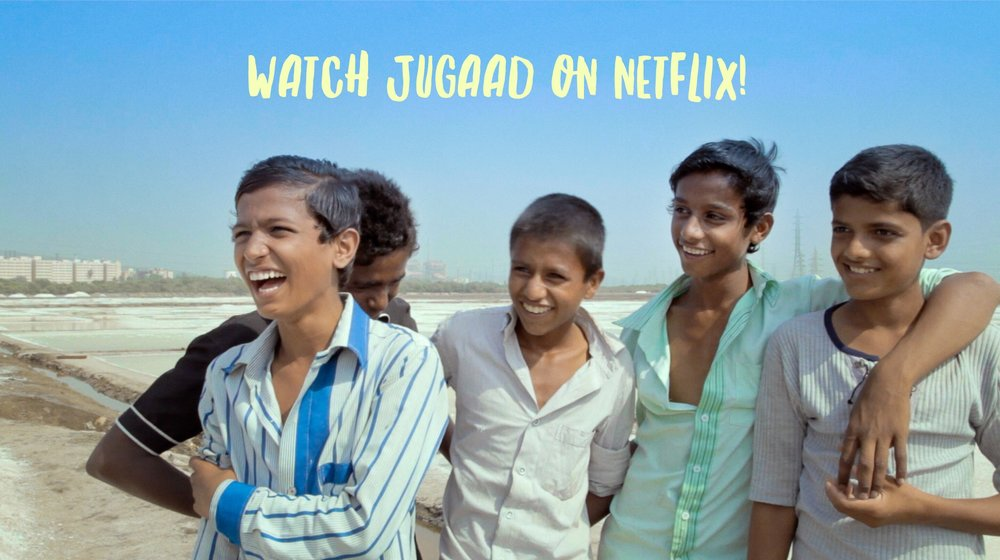 A scene from JUGAAD, now streaming worldwide!