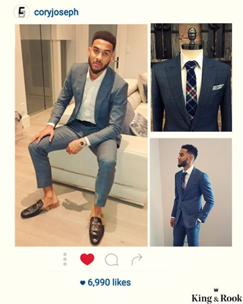 #REPOST  Thank you to Mr. Joseph for coming out to see us. Glad to know that you love our suit, because it was really fun to work with you! Designed by @coryjoseph  Want this look? Book an appointment at www.Kingandrook.ca - - - - - - - - - - #TorontoRaptors #TorontoSuits #CustomSuit #FullCanvas #SuitStyle #TorontoFashion #Torontomenfashion #TorontoMen #TorontoGQ #NBAFashion #SlimFit #TorontoSuiting #Suitup #PeakLapels #Windowpane #CustomShirt #CoryJoseph #TorontoLife #TorontoStartup #Kingandrooksuits #KingandrookCanada #kingandrook