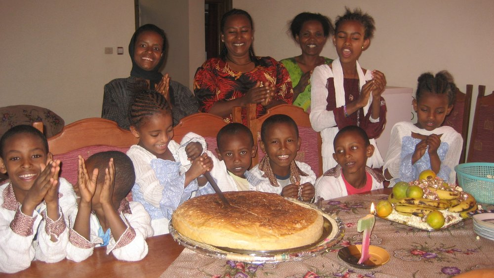 Throwback pic of Menelik House celebrating in 2008 (ET 2001).
