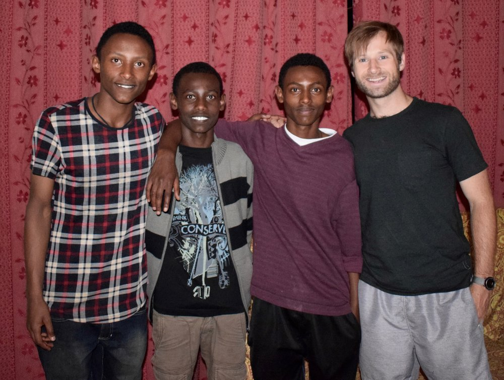 Ben celebrated his birthday with our families in Ethiopia!