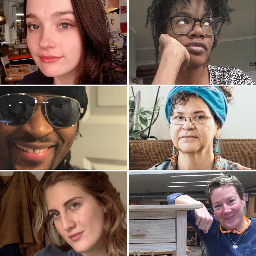 Clockwise from top left: Quincy Brimstein, LaLa Drew, Dee ClarkE, Kat Blaisdall, Celia Jailer, Titi De Baccarat