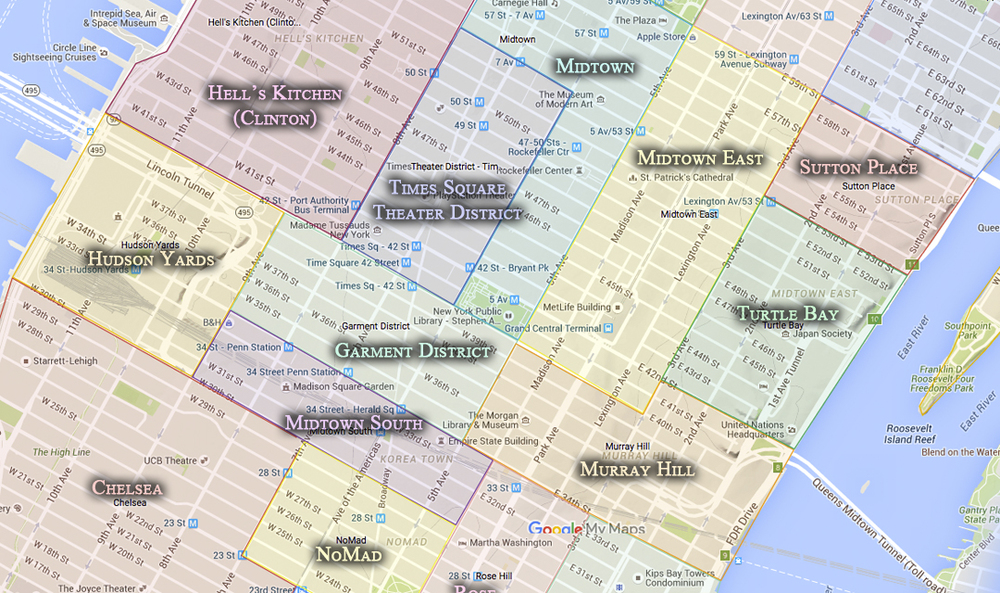 Murray Hill Nyc Map.Murray Hill Cityneighborhoods Nyc