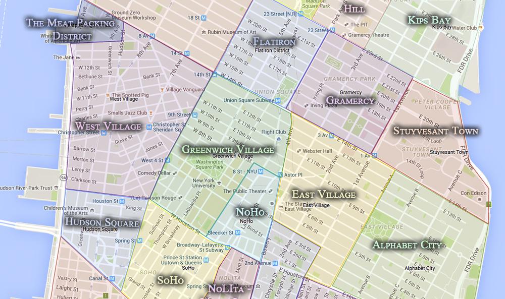 Noho Nyc Map.Noho Cityneighborhoods Nyc