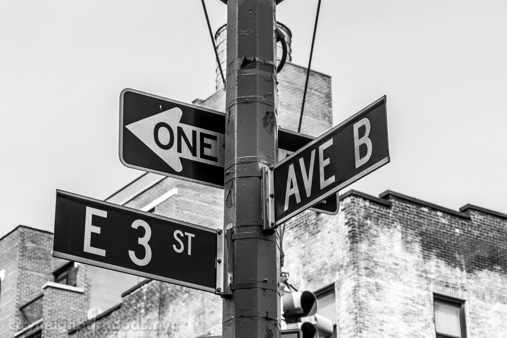 East 3rd Street & Avenue B - Alphabet City - Manhattan - NYC