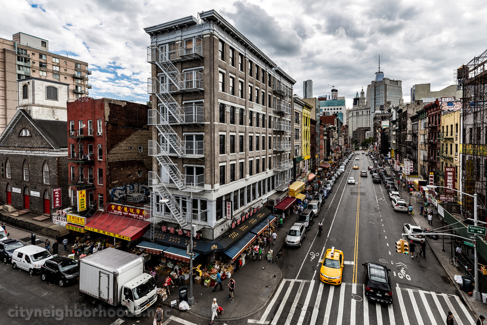 Market Street and East Broadway, from the Manhattan Bridge - Chinatown - Manhattan - NYC