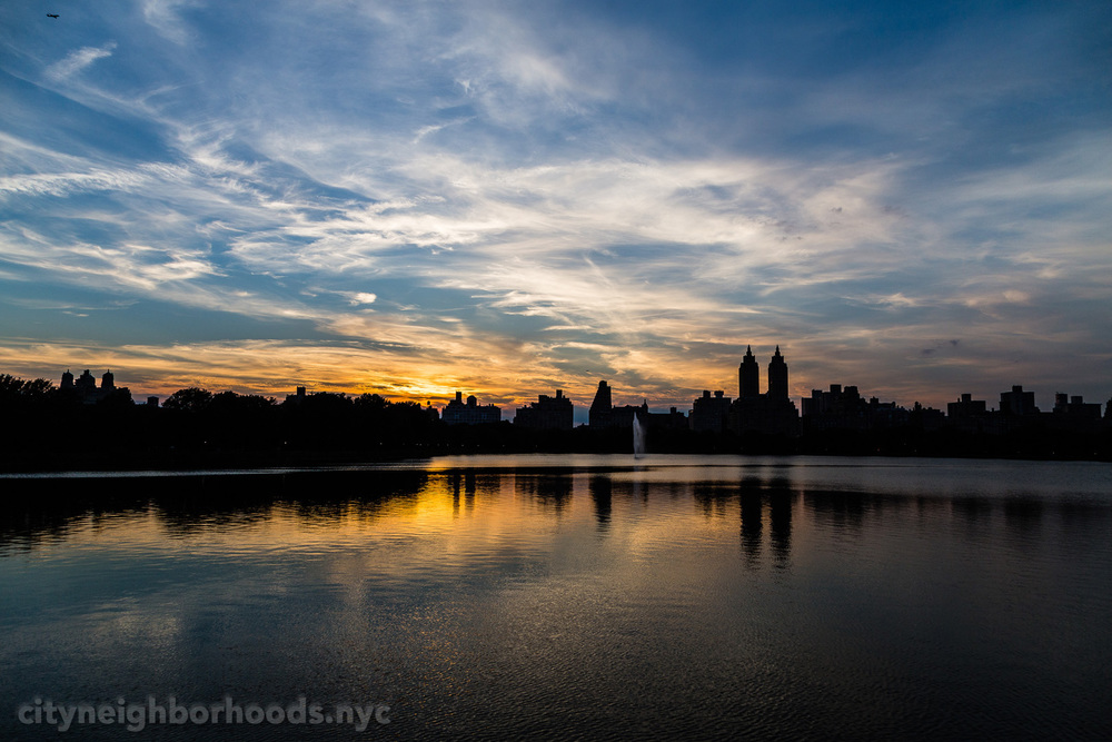 Central Park Sunset - Jacqueline Kennedy Onassis Reservoir - Manhattan - NYC