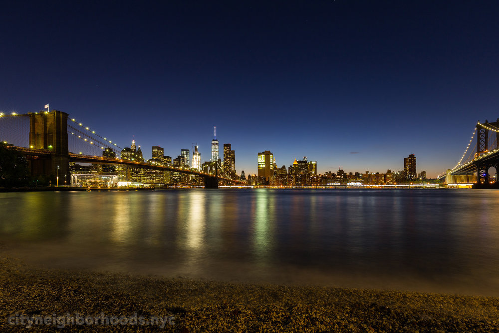 Lower Manhattan - From DUMBO - Brooklyn