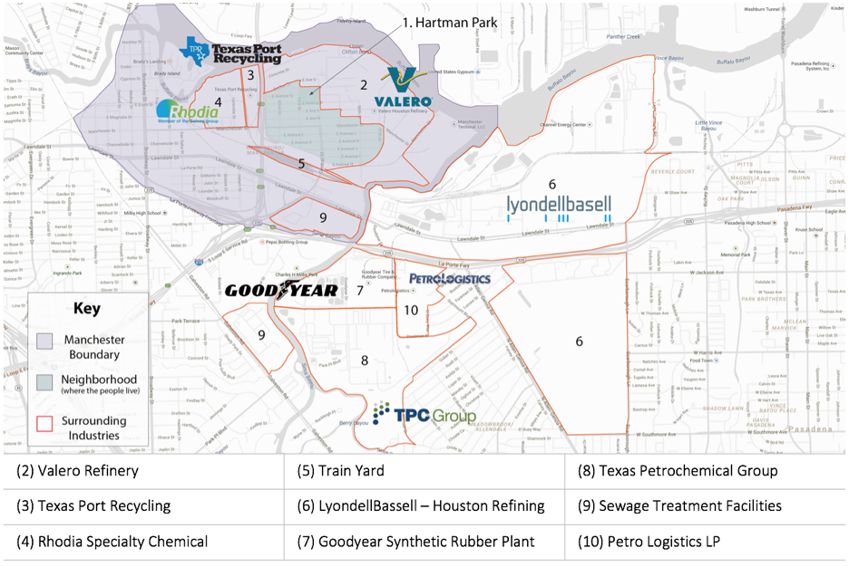 Figure 1. Map of the Harrisburg/Manchester Neighborhood