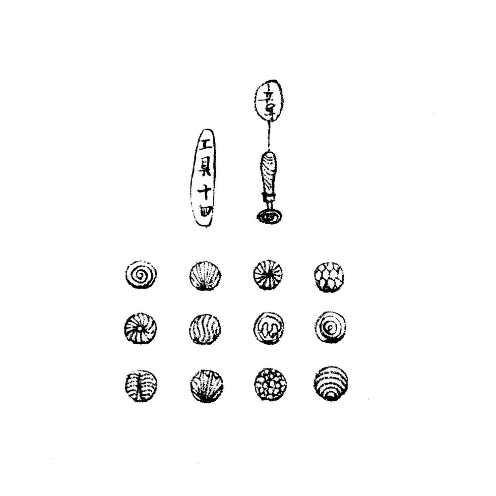 16.   工具十四,图章 跟上一幅介绍的夹板类似,这个工具是像印章一样的存在!趁着玻璃热的时候压上去,就会把图案印在表面了~触感有点类似蜡封。可以根据自己需求定制各种图案,不过在所有prunt里最著名的就要数蓝莓图章了,德国历史上曾经非常流行的款式top1,而英国则是走草莓少女心路线,关于此点以后再慢慢吐槽。  Tool14. Prunts Basically prunts are drops of molten glass applied freehand or impressed with a tool on glass vessels. Prunts were of various shaped and applied in patterns or haphazardly, usually to the lower two-thirds of the body. The German prunts, considered exceptional decorations, were frequently referred to as raspberries, while the wider and flatter English versions were called strawberries.