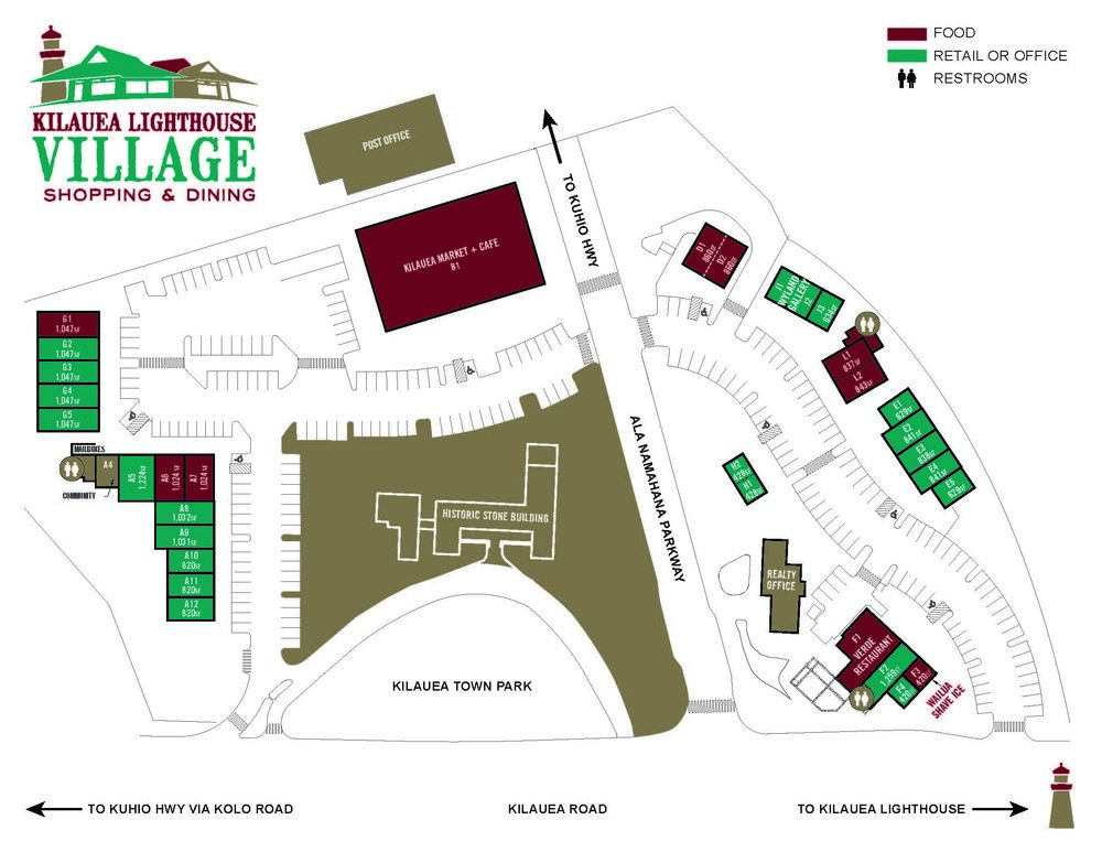 Kilauea Lighthouse Village Site Plan