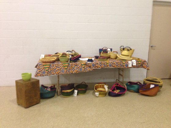 Station #4:     Baskets hand made in Ghana Africa and sold wholesale to us. We are now turning around and selling them to raise money to reach the people of Liberia.