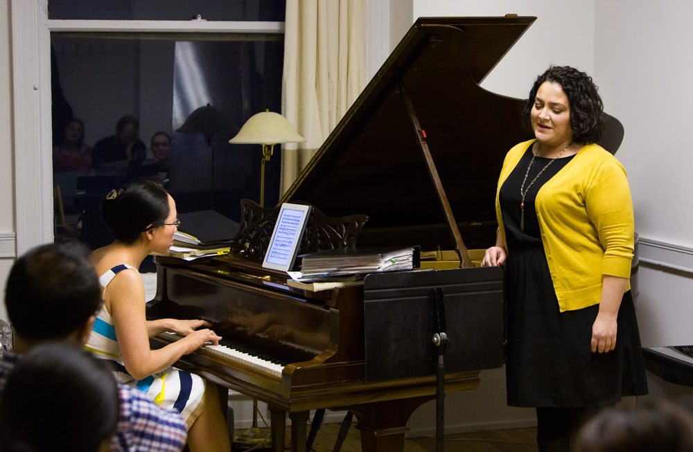 With pianist Eugenia Cheng in  Liederstube .  Photo credit: Paul Cristani.