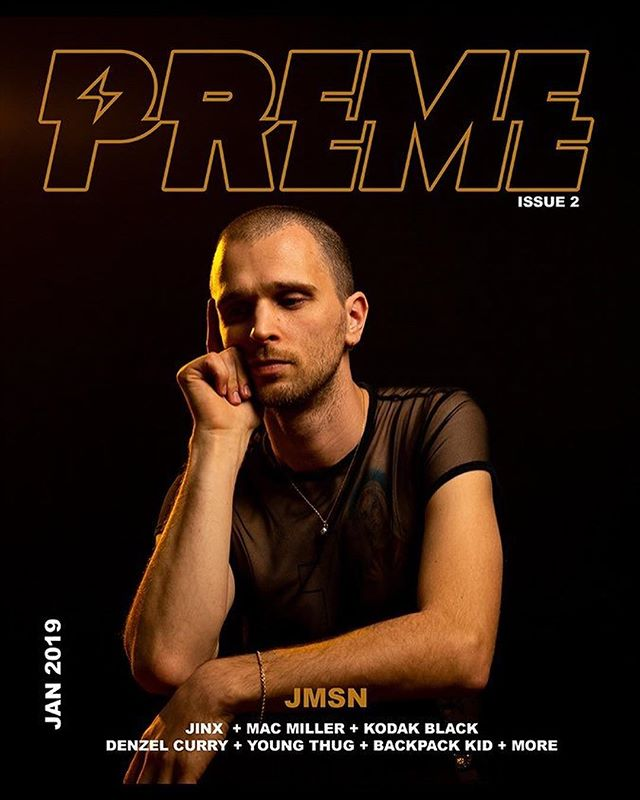 JMSN FOR THE COVER OF 'PREME' MAGAZINE.  shop.iamjmsn.com
