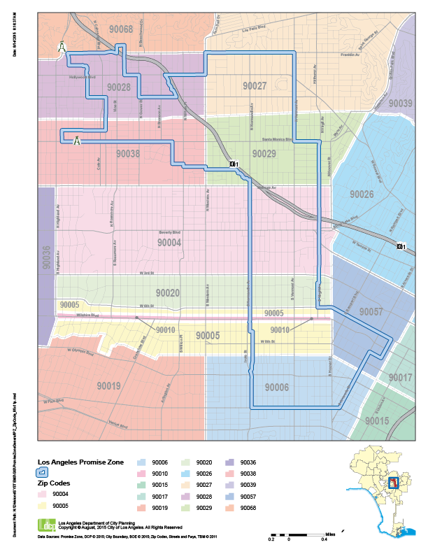 90010 Zip Code Map.Where We Work La Promise Zone