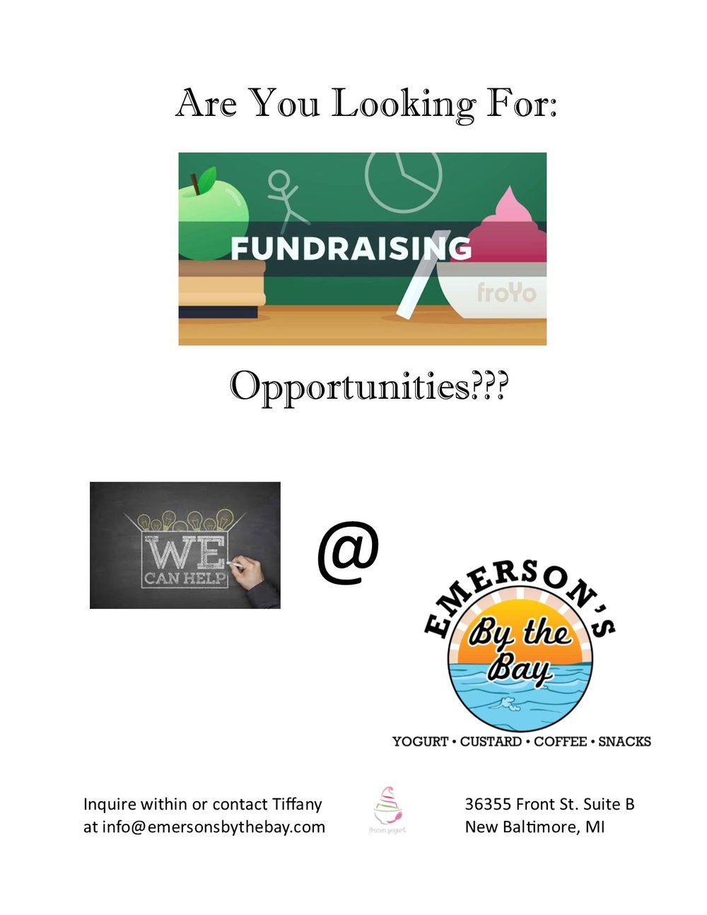 Have your fundraising event at EMERSON'S!