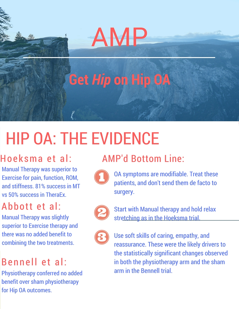 Hip OA: The evidence