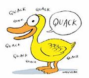 Don't be a quack!