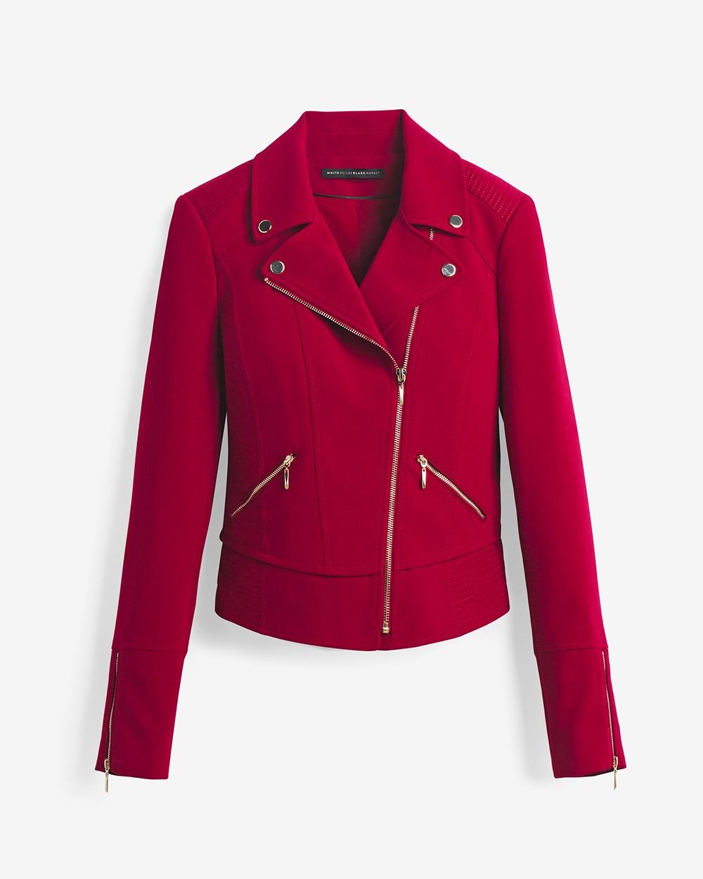 White House Black Market Moto Jacket, $150