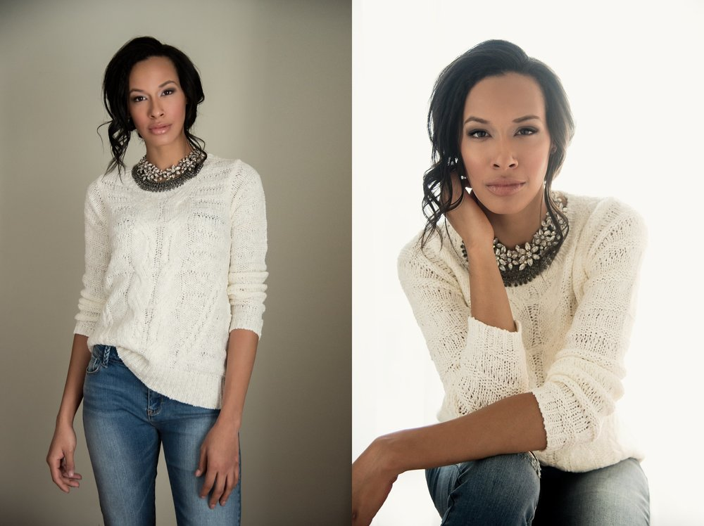 Julie J. Photography  Necklaces:  Sassy Jones Boutique  Sweater and Jeans:  Sweetest Stitch
