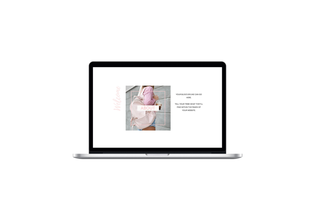 Feminine Charm [Squarespace] Toolkit - This feminine design is perfect for the #Girlboss who's ready to up-level her brand and be taken seriously