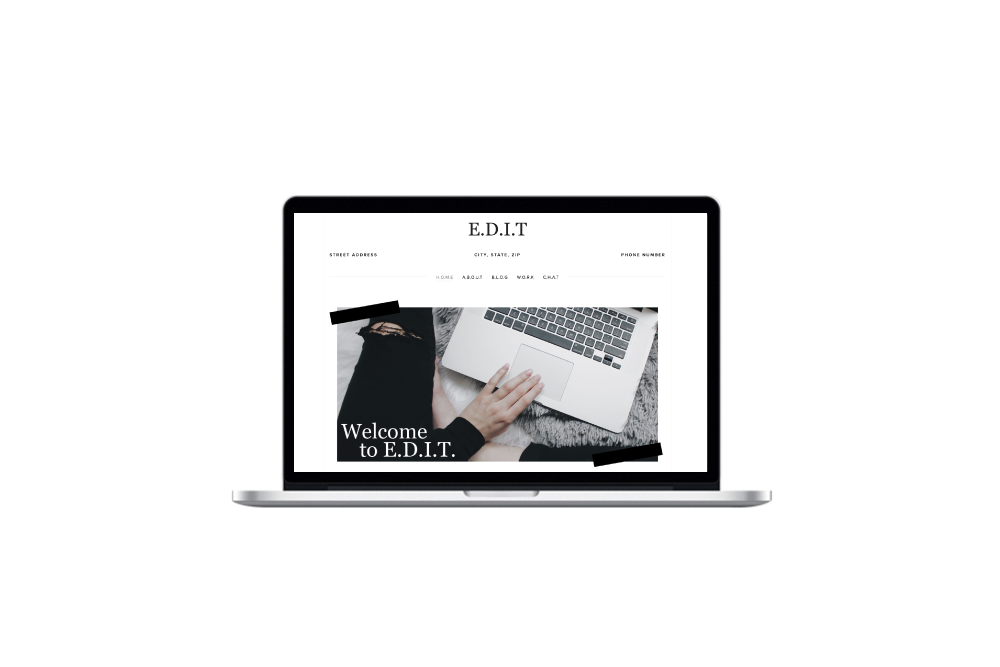 E.D.I.T. [Squarespace] Toolkit - This stylish and minimalist toolkit is perfect for the editor in you - make your content shine.