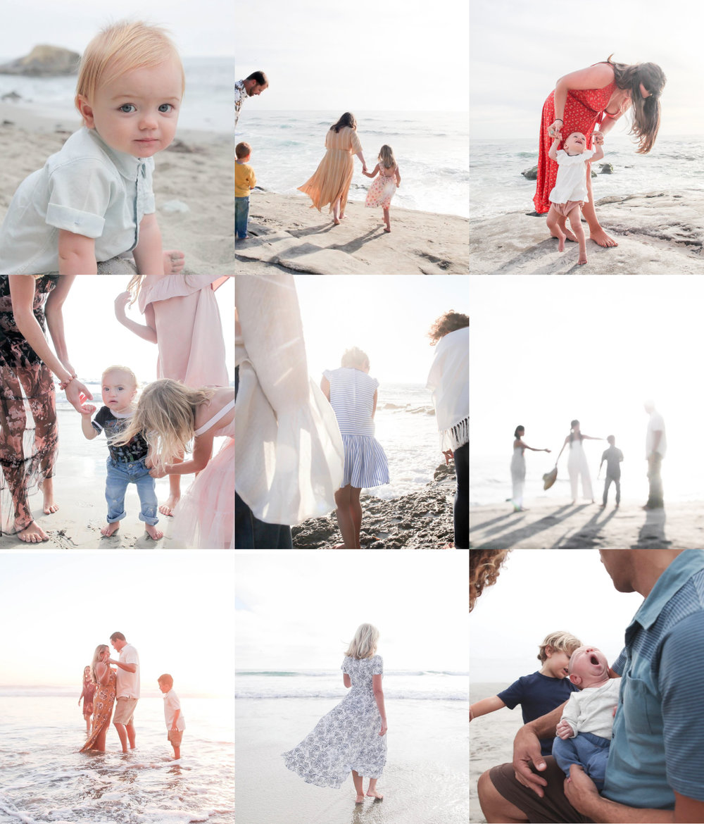 images from wind and sea beach where the mini sessions will be held.