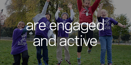 Kids are engaged socially, emotionally and physically when:
