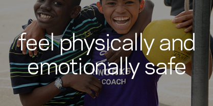 Kids are physically and emotionally safe when: