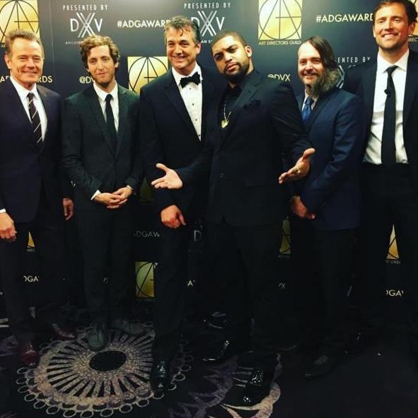 Host Owen Benjamin with Presenters at the 20th Annual ADG Awards. Image courtesy of adg800.