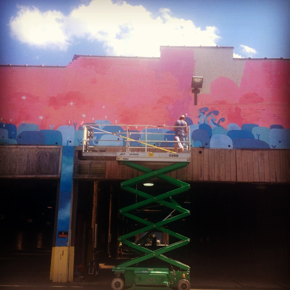 Richmond Street Art Festival, transit depot, 2014