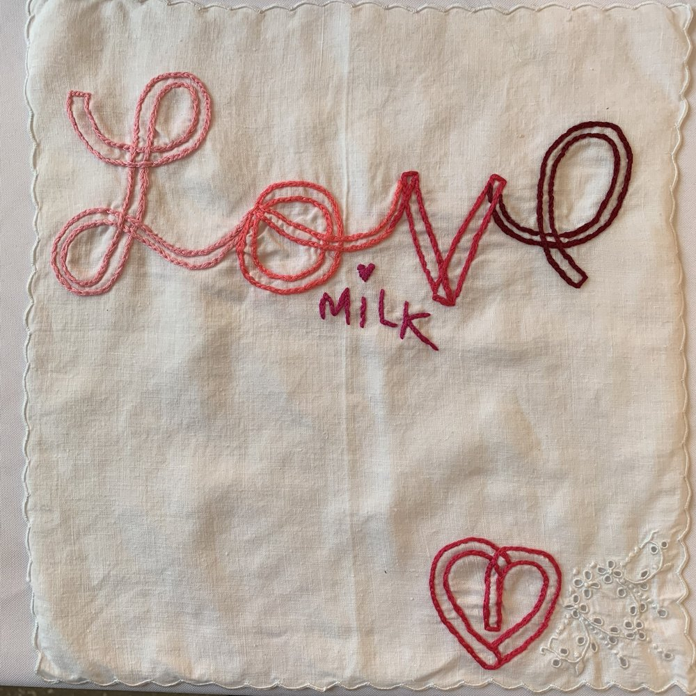 Love hanky, 12x12 antique linen, $40
