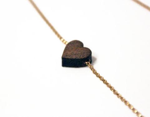 Wood Heart Choker - $48.77